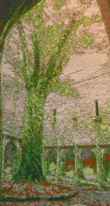 """Serenity: Ancient Irish Yew 31"""" x 54"""". $1800."""