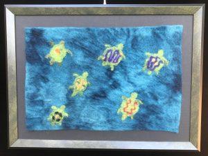 Turtles Rising, 16x12. $125.