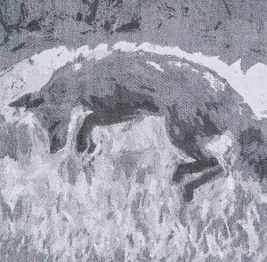 Leaping Fox, 31x30. $795.